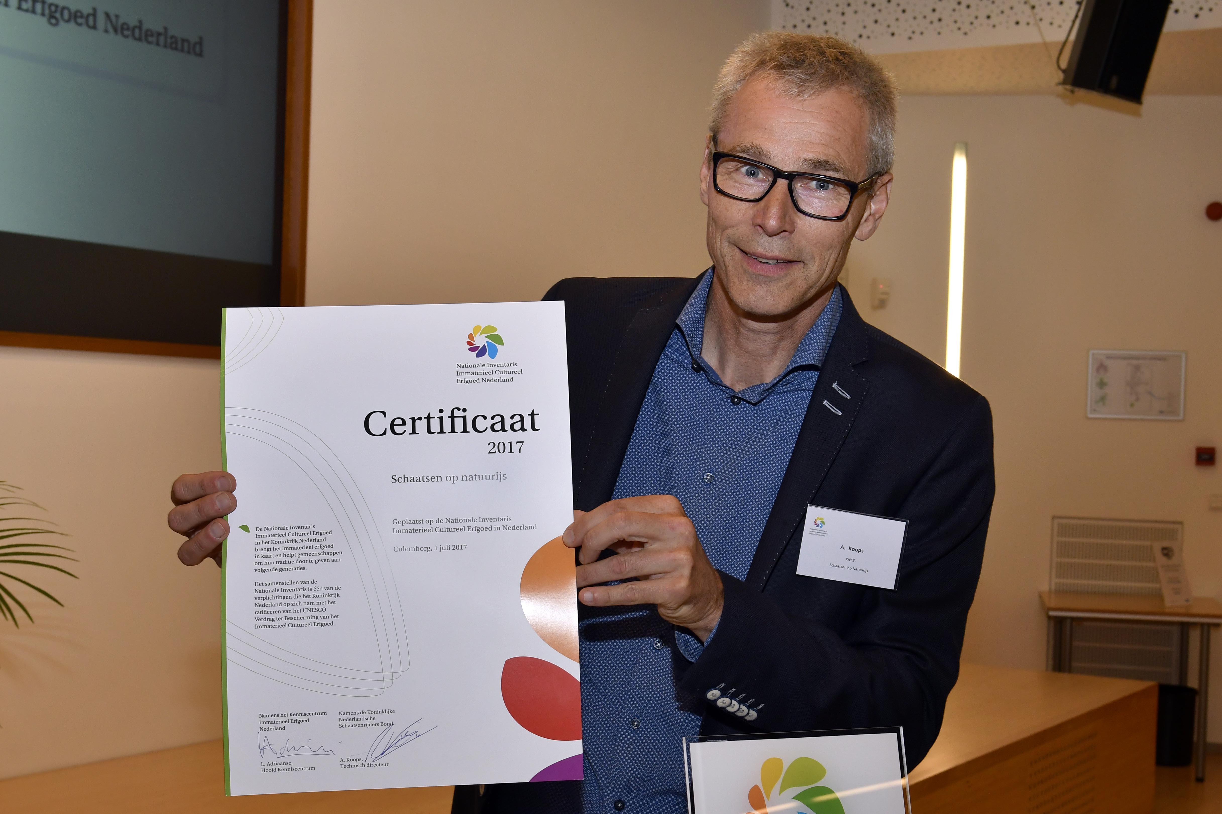 Arie Koops Certificaat