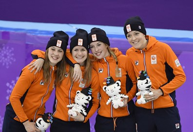Relay dames podium